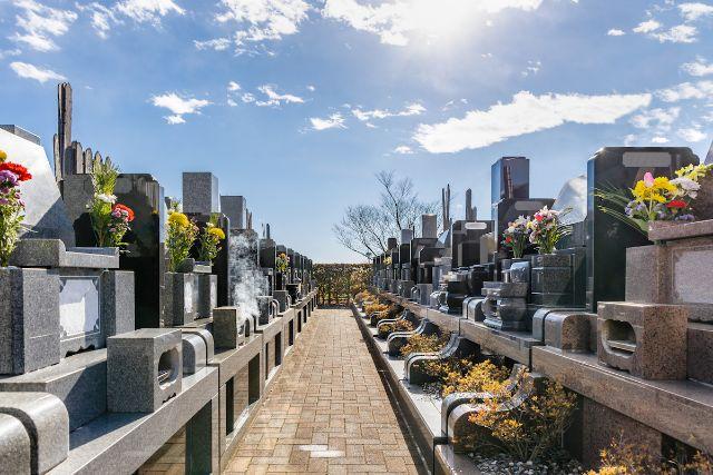 霊園に並ぶお墓
